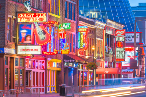 Nashville is known as the Music city in USA.